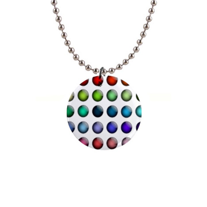 Button Icon About Colorful Shiny Button Necklaces