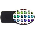 Button Icon About Colorful Shiny USB Flash Drive Oval (4 GB)  Front