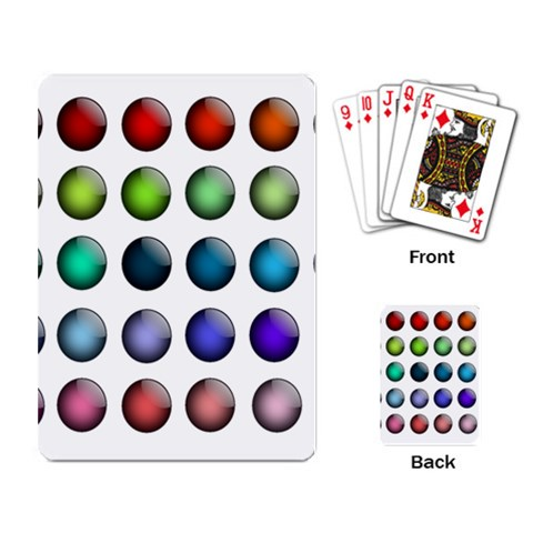 Button Icon About Colorful Shiny Playing Card