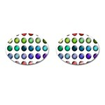 Button Icon About Colorful Shiny Cufflinks (Oval) Front