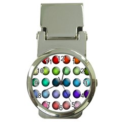 Button Icon About Colorful Shiny Money Clip Watches