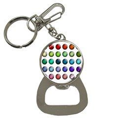 Button Icon About Colorful Shiny Bottle Opener Key Chains