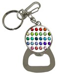 Button Icon About Colorful Shiny Bottle Opener Key Chains Front