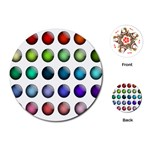 Button Icon About Colorful Shiny Playing Cards (Round)  Front