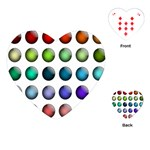 Button Icon About Colorful Shiny Playing Cards (Heart)  Front