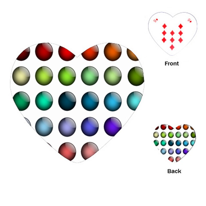 Button Icon About Colorful Shiny Playing Cards (Heart)