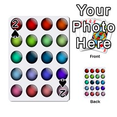 Button Icon About Colorful Shiny Playing Cards 54 Designs