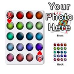 Button Icon About Colorful Shiny Playing Cards 54 Designs  Front - Heart9