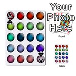 Button Icon About Colorful Shiny Playing Cards 54 Designs  Front - ClubA