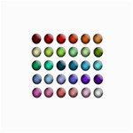 Button Icon About Colorful Shiny Collage Prints 18 x12 Print - 2