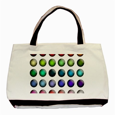 Button Icon About Colorful Shiny Basic Tote Bag