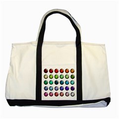 Button Icon About Colorful Shiny Two Tone Tote Bag