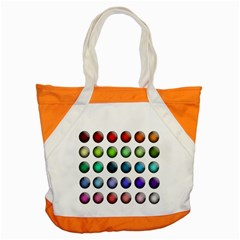 Button Icon About Colorful Shiny Accent Tote Bag