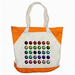 Button Icon About Colorful Shiny Accent Tote Bag Front