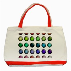Button Icon About Colorful Shiny Classic Tote Bag (Red)