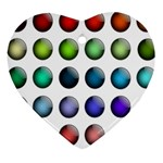 Button Icon About Colorful Shiny Heart Ornament (2 Sides) Back