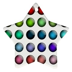 Button Icon About Colorful Shiny Star Ornament (Two Sides)