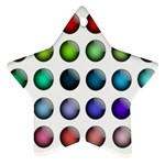 Button Icon About Colorful Shiny Star Ornament (Two Sides)  Front