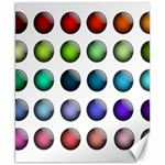 Button Icon About Colorful Shiny Canvas 8  x 10  10.02 x8 Canvas - 1