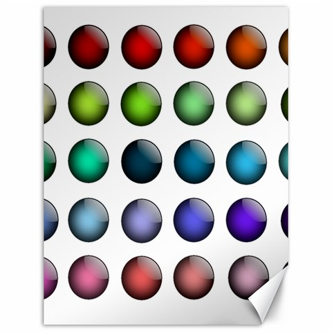 Button Icon About Colorful Shiny Canvas 12  x 16