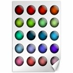 Button Icon About Colorful Shiny Canvas 12  x 18   18 x12 Canvas - 1