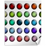 Button Icon About Colorful Shiny Canvas 16  x 20   20 x16 Canvas - 1