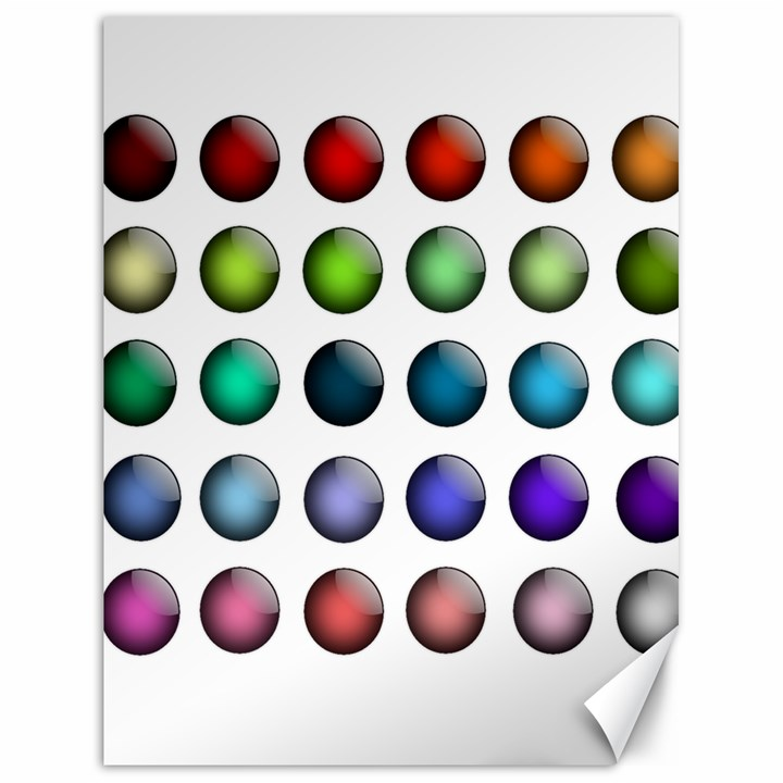 Button Icon About Colorful Shiny Canvas 18  x 24
