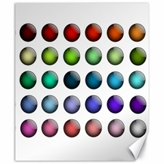 Button Icon About Colorful Shiny Canvas 20  x 24