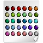 Button Icon About Colorful Shiny Canvas 20  x 24   24 x20 Canvas - 1