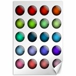Button Icon About Colorful Shiny Canvas 24  x 36  36 x24 Canvas - 1