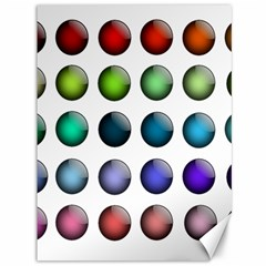 Button Icon About Colorful Shiny Canvas 36  x 48