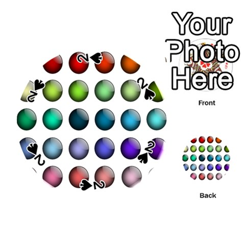 Button Icon About Colorful Shiny Playing Cards 54 (Round)