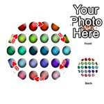 Button Icon About Colorful Shiny Playing Cards 54 (Round)  Front - Heart8