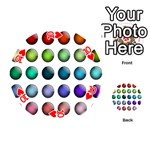 Button Icon About Colorful Shiny Playing Cards 54 (Round)  Front - Heart10