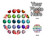 Button Icon About Colorful Shiny Playing Cards 54 (Round)  Front - Diamond10