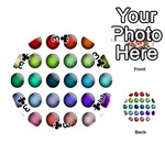 Button Icon About Colorful Shiny Playing Cards 54 (Round)  Front - Club3