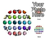Button Icon About Colorful Shiny Playing Cards 54 (Round)  Front - Club4
