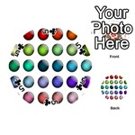 Button Icon About Colorful Shiny Playing Cards 54 (Round)  Front - Club5