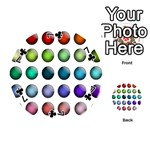 Button Icon About Colorful Shiny Playing Cards 54 (Round)  Front - Club7