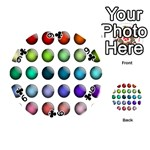 Button Icon About Colorful Shiny Playing Cards 54 (Round)  Front - Club9