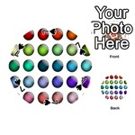 Button Icon About Colorful Shiny Playing Cards 54 (Round)  Front - Spade7