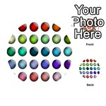 Button Icon About Colorful Shiny Playing Cards 54 (Round)  Back