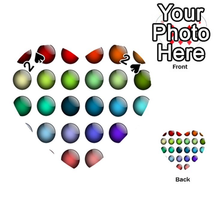 Button Icon About Colorful Shiny Playing Cards 54 (Heart)