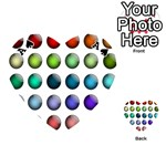 Button Icon About Colorful Shiny Playing Cards 54 (Heart)  Front - SpadeA