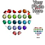 Button Icon About Colorful Shiny Playing Cards 54 (Heart)  Front - Heart7