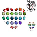 Button Icon About Colorful Shiny Playing Cards 54 (Heart)  Front - Heart9