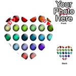 Button Icon About Colorful Shiny Playing Cards 54 (Heart)  Front - Heart10