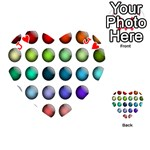 Button Icon About Colorful Shiny Playing Cards 54 (Heart)  Front - HeartJ