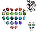 Button Icon About Colorful Shiny Playing Cards 54 (Heart)  Front - ClubQ