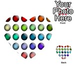 Button Icon About Colorful Shiny Playing Cards 54 (Heart)  Back